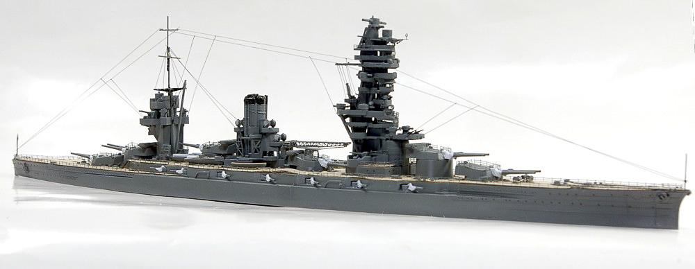 個性的な日本海軍戦艦 扶桑 アオシマ 1/700のプラモデル